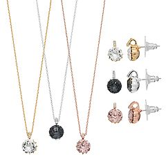 Brilliance Pendant & Stud Earring Set with Swarovski Crystals