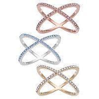 Brilliance X Ring with Swarovski Crystals