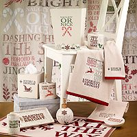 Avanti Holiday Words Shower Curtain Collection