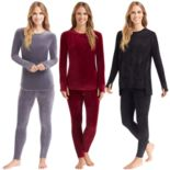 Women's Cuddl Duds Plush Velour Essentials