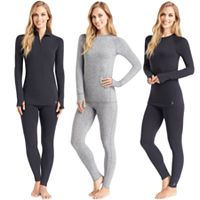 Women's Cuddl Duds Wool-Blend Thermal Essentials