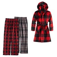 Boys Cuddl Duds Fleece Buffalo Check Loungewear