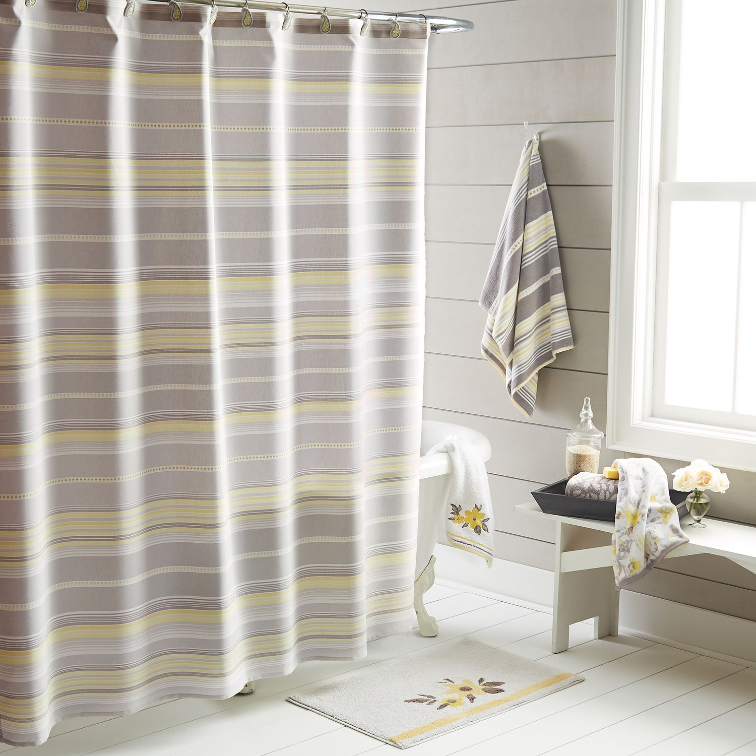One Home Taylor Stripe Shower Curtain Collection