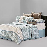 N Natori Fretwork Comforter Collection