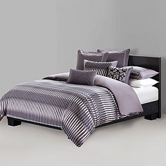 N Natori Abstract Stripe Duvet Cover Collection