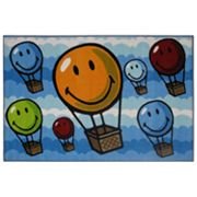 Fun Rugs Smiley World Hot Air Balloon Rug