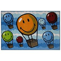 <strong>Fun Rugs&trade; Smiley World Hot Air Balloon Rug</strong>