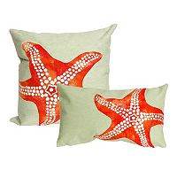 Liora Manne Visions II Starfish Indoor Outdoor Throw Pillow Collection