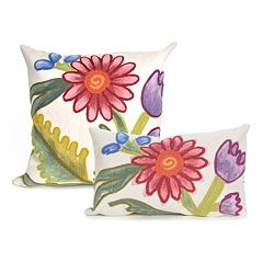 Liora Manne Visions III Gypsy Flower Indoor Outdoor Throw Pillow Collection