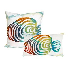 Liora Manne Visions III Rainbow Fish Indoor Outdoor Throw Pillow Collection
