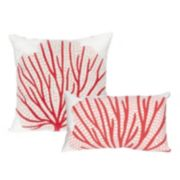 Liora Manne Visions III Coral Fan Indoor Outdoor Throw Pillow Collection