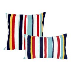Liora Manne Visions III Riviera Stripe Indoor Outdoor Throw Pillow Collection