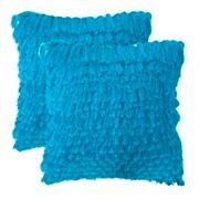 Cali Shag 2 pc Throw Pillow Set