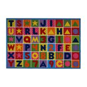 Fun Rugs Fun Time Numbers and Letters Rug
