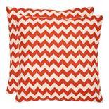 Chevron Tealea 2-piece Throw Pillow Set