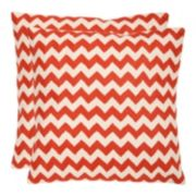 Chevron Tealea 2-piece Throw Pillow Set