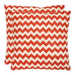 Chevron Tealea 2 pc Throw Pillow Set