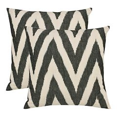 Chevron 2 pc Throw Pillow Set