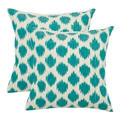 Polka Dot Ikat 2-piece Throw Pillow Set