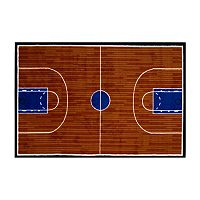 <strong>Fun Rugs&trade; Fun Time Basketball Court Rug</strong>