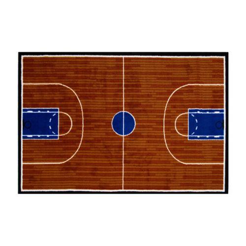 Fun Rugs Fun Time Basketball Court Rug