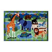 Fun Rugs Olive Kids Wild Animals Rug