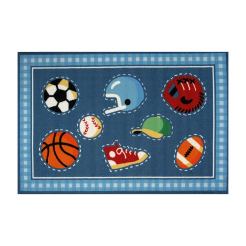 Fun Rugs Olive Kids Go Team Rug