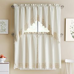 VCNY Jenna Kitchen Window Curtains
