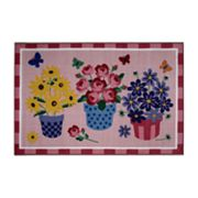 Fun Rugs Olive Kids Blossoms and Butterflies Rug