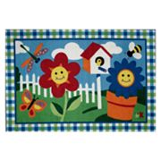 Fun Rugs Olive Kids Happy Flowers Rug