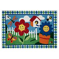 <strong>Fun Rugs&trade; Olive Kids&trade; Happy Flowers Rug</strong>