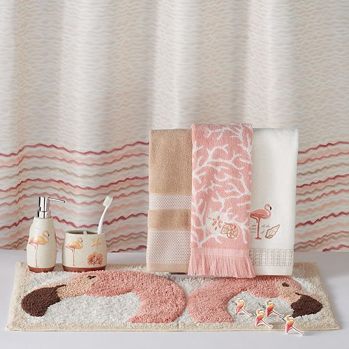 Saturday Knight Ltd Coral Gables Waves Shower Curtain Collection