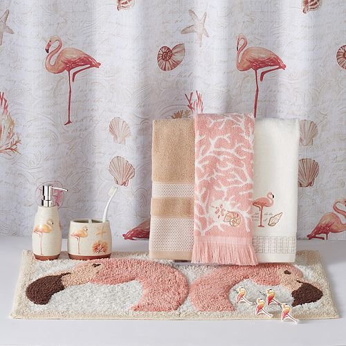 Saturday Knight Ltd Coral Gables Flamingo Shower Curtain Collection