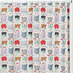 Creative Bath Kitty Shower Curtain Collection