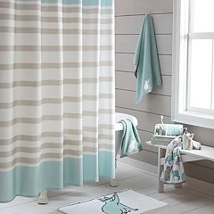 One Home Kitty Cat Stripe Shower Curtain Collection