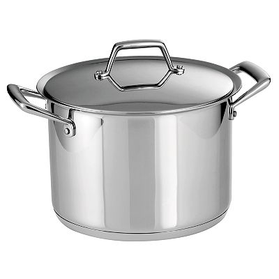 Tramontina Prima Stainless Steel Tri-Ply Covered Stockpots