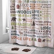 Avanti Cabin Words Shower Curtain Collection