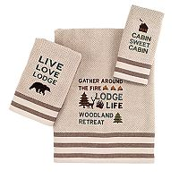 Avanti Cabin Words Bath Towel Collection