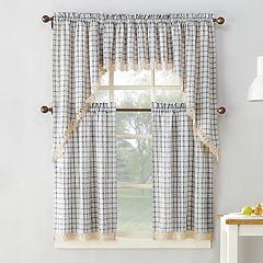 No918 Maisie Plaid Kitchen Window Curtains