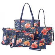 Dana Buchman Navy Floral Handbag Collection