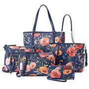 Dana Buchman Navy Floral Handbag Collection