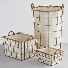 Soho Market Nantucket Bin & Hamper Storage Collection