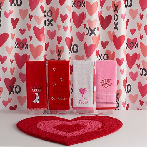 Valentine\'s Day Together XOXO Shower Curtain Collection