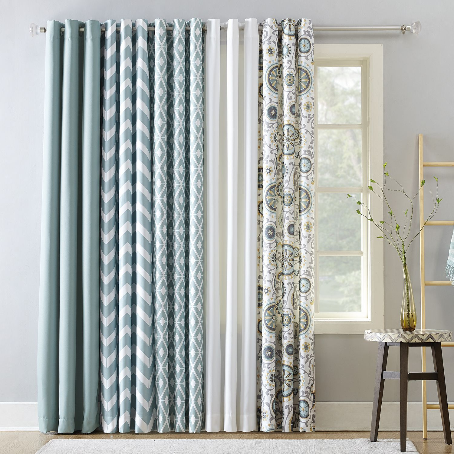 The Big One® 2 Pack Aqua Window Curtain Collection