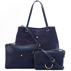 LC Lauren Conrad Scallop Detail Handbag Collection