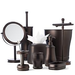 black glitter bathroom accessories. interDesign  Brisbane Bathroom Accessories Collection Powder Room Kohl s