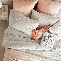 Peri Chenille Lattice Duvet Cover Collection