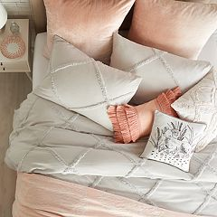 Peri Chenille Lattice Duvet Cover Collection