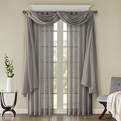 Madison Park Kaylee Solid Crushed Window Treatments