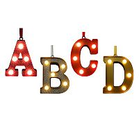St. Nicholas Square® Light-Up Marquee Letter Christmas Ornament Collection